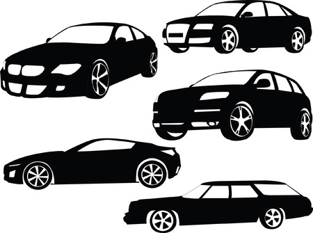 cars parking:  cars collection 2 - vector