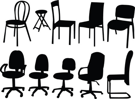 chairs collection - vector Vector