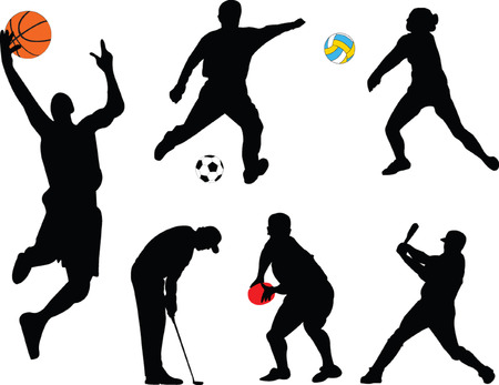 collection of different sport - vector Vector