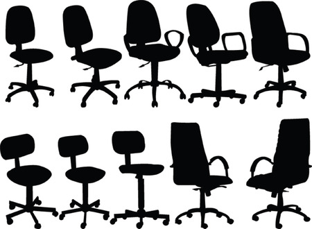 computer chairs collection - vector Vector