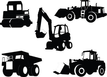 bouwmachines collectie - vector