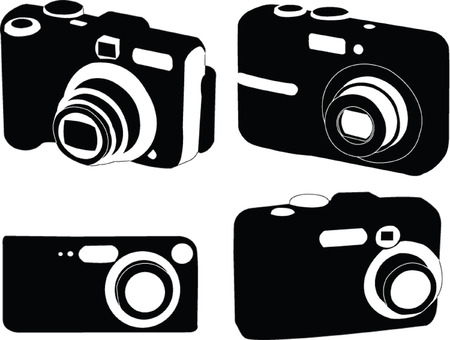 digital photo camera collection - vector Vector