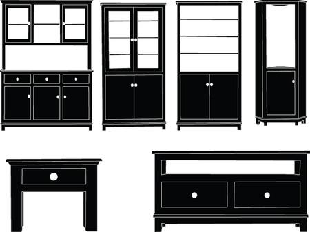 armarios: tocadores de recogida - vector
