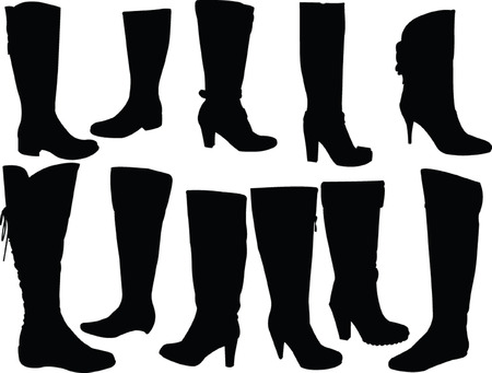 elegance boots collection - vector Vector