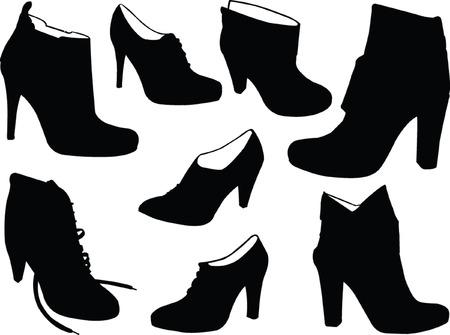 elegance boots - vector Vector
