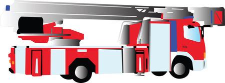firetruck: fire truck 2 - vector Illustration