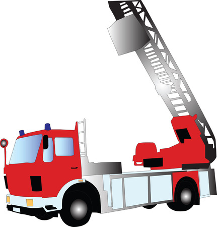 engine fire:  fire truck silhouette - vector Illustration