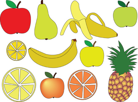 fruit collection - vector Stock Vector - 5090892