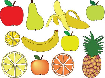 fruit collection - vector Stock Vector - 5090892