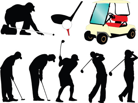 golf collection - vector Illustration