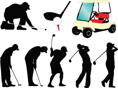corsi di formazione: golf collezione - vettore Vettoriali