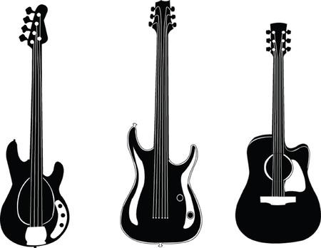 resonancia: colecci�n de guitarras - vector