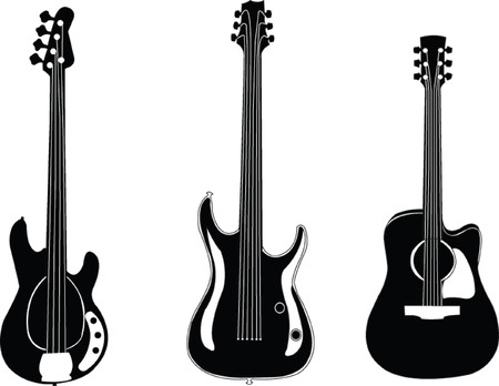 accords: guitars collection - vector Illustration