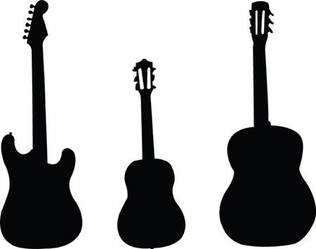 trendy shape: guitars collection - vector Illustration