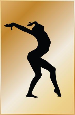 gymnastics girl with background - vector Stock Vector - 5104811