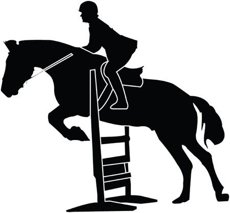 horse race silhouette - vector Stock Vector - 5104816