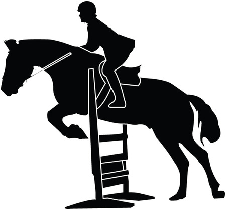 groin:  horse race silhouette - vector
