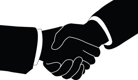 deacuerdo: apret�n de manos - vector