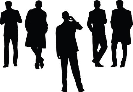 business man collection - vector Vector