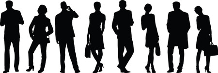business people silhouette collection - vector Vector