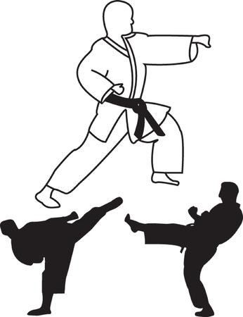 kungfu: karate player - vector