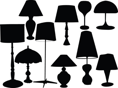 tungsten:  lamps collection - vector Illustration