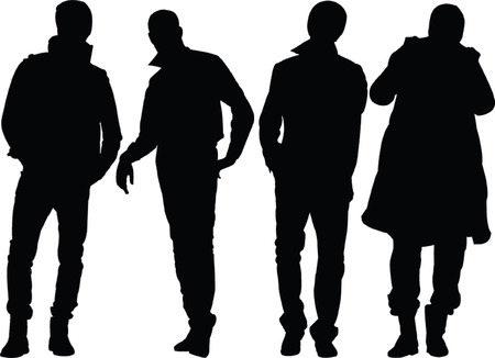 man silhouette collection - vector Illustration