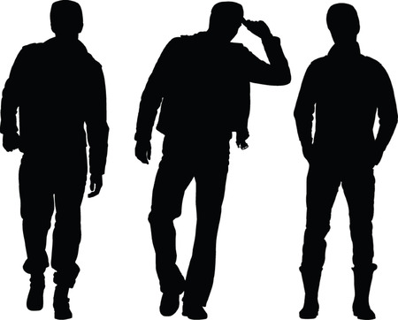 man silhouette collection 2 - vector Illustration