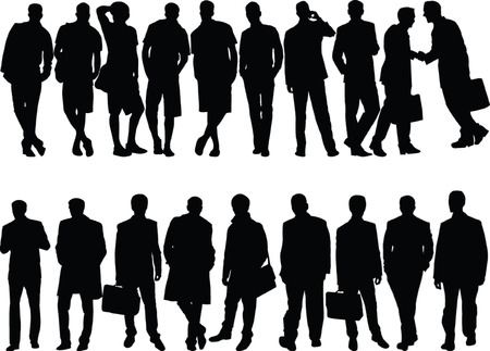 men silhouette collection - vector Illustration