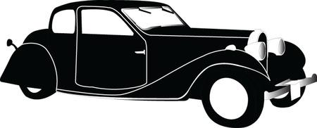old car - vector Vector