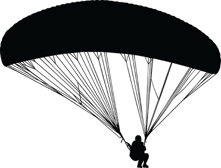 parapendio silhouette - vector