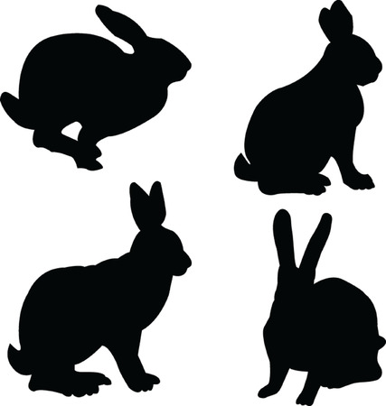 rabbits collection - vector Stock Vector - 5120445
