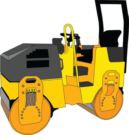 steamroller: roller - vector
