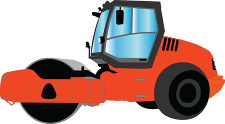 steamroller: roller 2 - vector