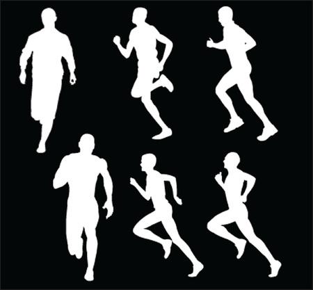 running people - vector Vector