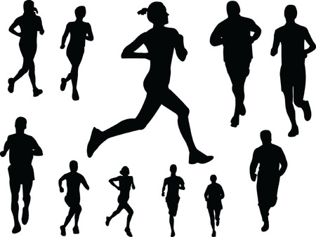 running people 3 - vector Stock Vector - 5120459