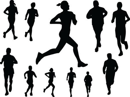 running people 3 - vector Illustration