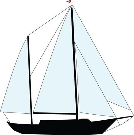 sailing boat - vector Vector