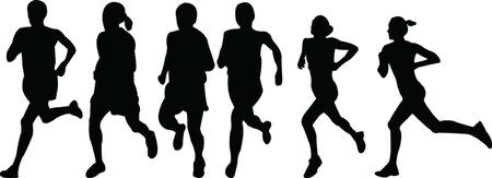 running women collection - vector Vector