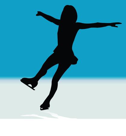 Eislaufen mit Eisblume - Vektor  Vektorgrafik