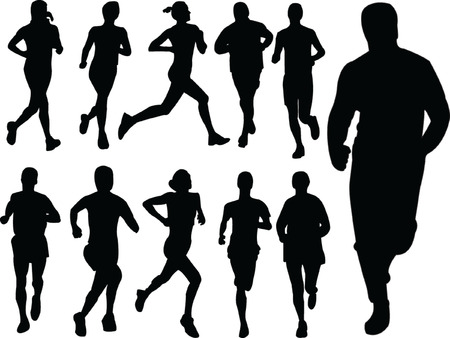 sports vector: running people 2 - vector