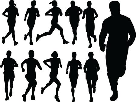 running people 2 - vector Stock Vector - 5120461