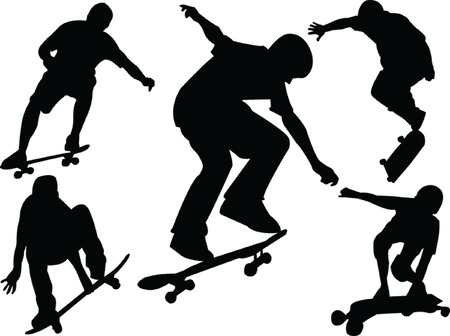 skateboarding: skateboard collection - vector
