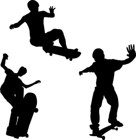 skateboard collection - vector Vector