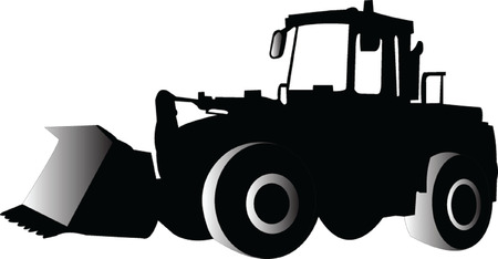 skid:  skid loader - vector Illustration
