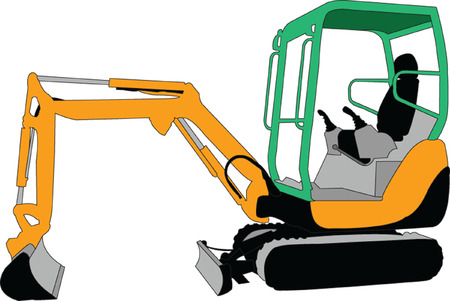 skid: skid loader 2 - vector Illustration