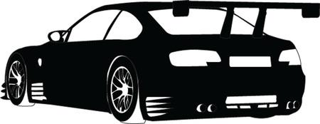 scheinwerfer: Sport Auto-Silhouette - vector
