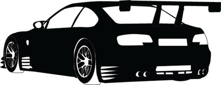 sport car silhouette - vector Stock Vector - 5120418
