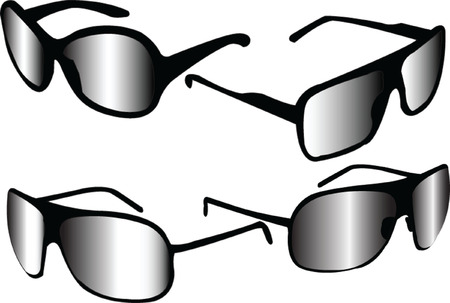 sunglasses collection - vector Stock Vector - 5120436