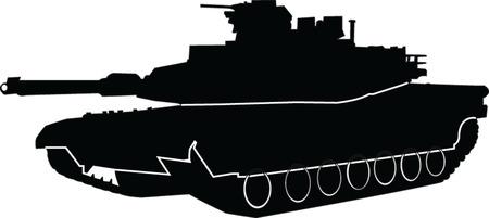 tanque con contorno - vector